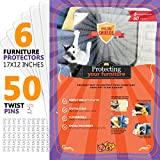 Amazing Shields - Six(6) X-Large Furniture Protectors from Cats - Cat Repellent for Furniture - Cat Scratch Deterrent - Cat Couch Protector - Scratch pad - Cat Couch(17\