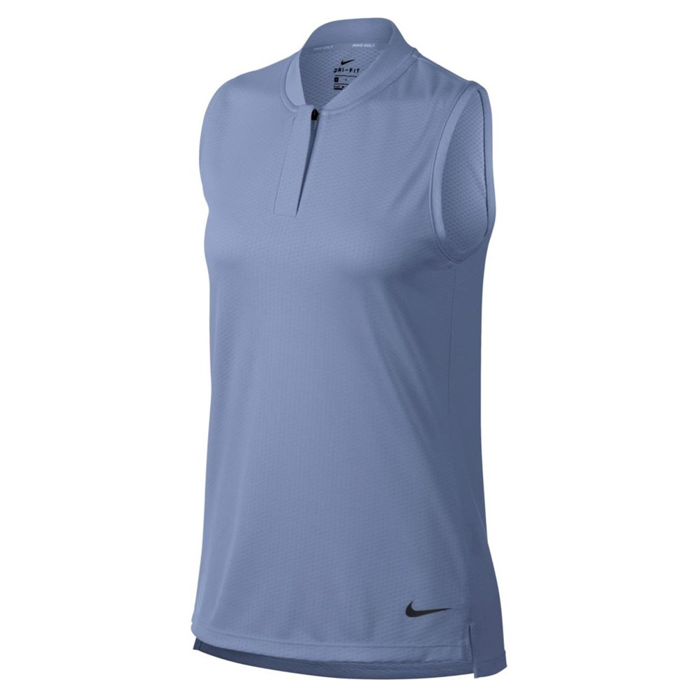 Nike Dri Fit Sleeveless Blade Collar Golf Polo 2018 Women Royal Tint/Flat Silver Large by Nike