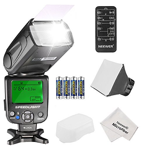 Neewer NW620 Manual Flash Speedlite Kit for Canon Nikon Panasonic Olympus Pentax and Other DSLR Cameras Includes: NW620 GN58 Flash Soft/Hard Diffuser 5-in-1 Remote Control (4)Battery Cleaning Cloth
