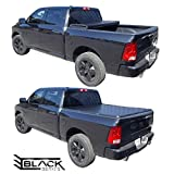 Hard Tri-Fold Solid Tonneau Pickup Truck Cover Top-Mount (Fits 2002-2018 Dodge Ram 1500 2500 3500 6.4 Feet (76.8 Inches / 2.0 Metres) Bed Box Size - Non-Ram Box Models)