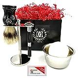 Braun Series 7 Use With Shaving Cream - Zeva Straight Razor Shaving Kit Gift Set for Men with 10 Dorco Razor Blades DE Safety Razor Drip Stand for Pure Badger Brush