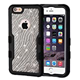 MyBat Cell Phone Case for Apple iPhone 6 Plus - black/Zebra Skin Full Glitter