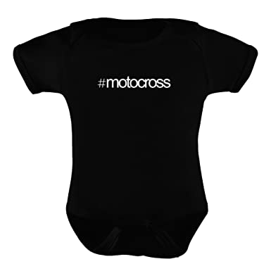 4d9fe15ee4 Idakoos Hashtag Motocross - Sports - Baby Bodysuit  Amazon.co.uk ...