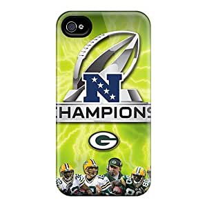 Hard Plastic Iphone 4/4s Case Back Cover,hot Green Bay Packers Case At Perfect Diy