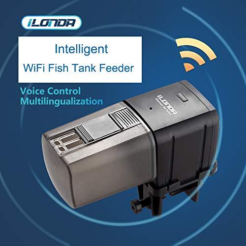 Carremark Dispensador de Alimentos controlado por el Dispositivo Inteligente de WiFi para el Dispositivo de alimentación automática de Peces: Amazon.es: ...