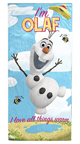 Disney Frozen Beach Towel White