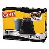 CLO70313 - Drawstring Outdoor Trash Bags, 30 X 33, 30gal, 1.1mil, Black, 90/case