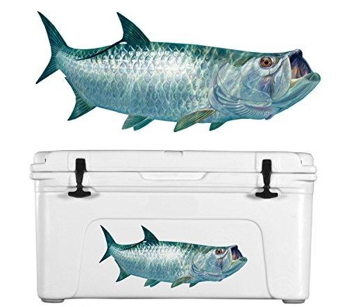 (Skiff Life Tarpon Fishing Decal Fish Sticker Randy McGovern Art)