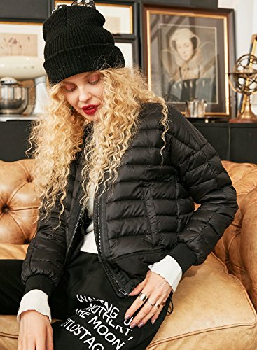 White Zip Volo Bomber Classico Warm Donna Sack Nero 90 Ultraleggero Down Duck Giubbotto Elf Da WF1XzqPw
