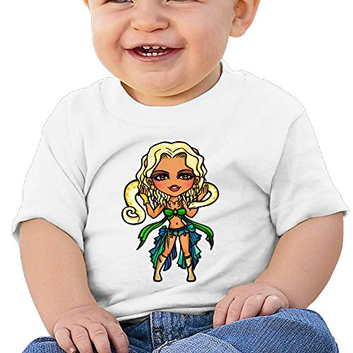 Price comparison product image Boss-Seller Britney Spears Short-Sleeve T Shirts For 6-24 Months Boys & Girls Size 18 Months White
