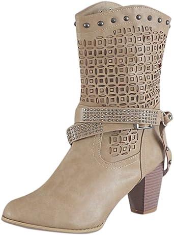 Posional Zapatos de Mujer Pisos Cuero Moda Botines Punta
