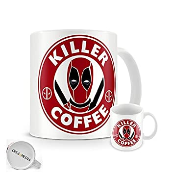 Killer Coffee Mug Comics Starbucks Deadpool 11oz Nwn08OkPX