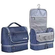 HOKEMP Toiletry Bag Travel Waterproof Cosmetic Bag Multifuncation Organizer Bag Portable Makeup Pouch - Navy