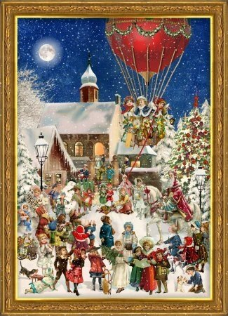 Victorian Christmas Hot Air Balloon German Advent Calendar by Richard Sellmer by Richard Sellmer Verlag Company (Image #1)