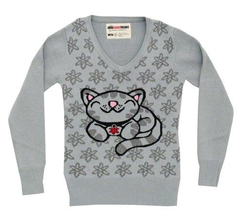 Kitty Kitty Kitty Soft M Sweater Pixel Juniors Neck Theory Big Big Big V Bang gwtqRnxI