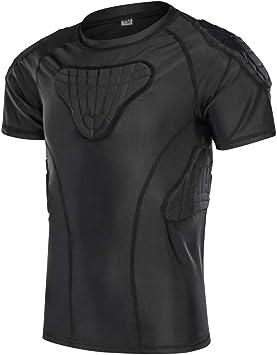 DGYAO Niños Deportes Camiseta Protectora Acolchada y Pantalones Cortos Hombro Costilla Cuello Protector de Cadera Traje para fútbol Rugby Baloncesto Esquí Snowboard Patinaje Contacto Deportes: Amazon.es: Deportes y aire libre