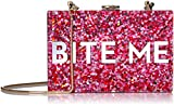 MILLY Glitter Bite Me Box Clutch, Multi