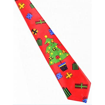 Corbata De Navidad Estampada Azul 9.5Cm Corbata Verde De La ...