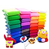 36 Bright Color Air Dry Super Light Clay Craft Kit Modeling Clay Artist Studio Toy, Great Gift for Kids