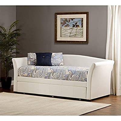Hillsdale Montgomery Daybed with Trundle in White Faux Leather