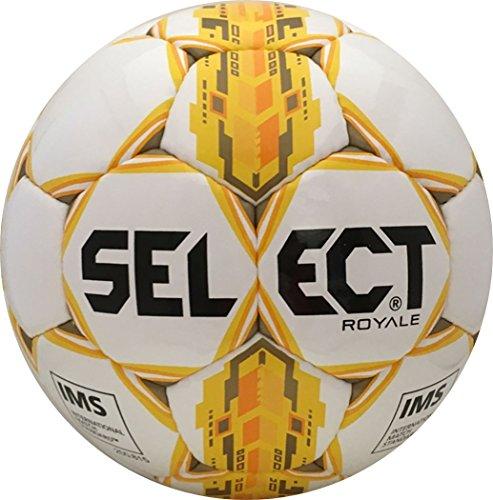 Select Royale Soccer Ball, White/Yellow, 5