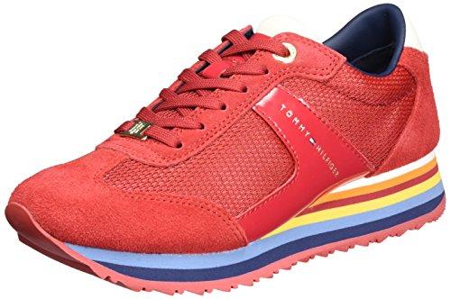 Tommy Hilfiger A1285ngel 1c3, Zapatillas para Mujer Rojo (Tango Red 611)