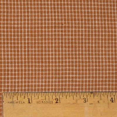 Homespun Cotton Fabric - Pumpkin Spice 1 Autumn Homespun Cotton Plaid Fabric by JCS - Sold by the Yard