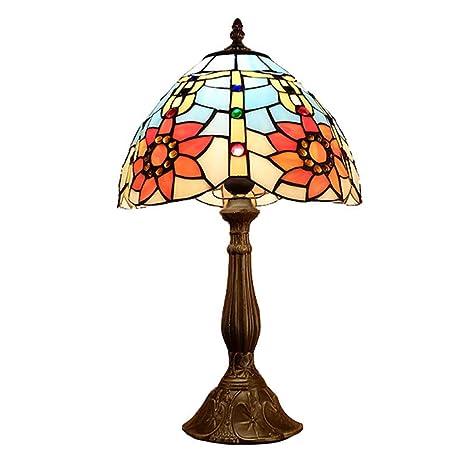 SXFYWYL Tiffany Lámparas de Mesa Estilo Pastoral Lámpara de ...