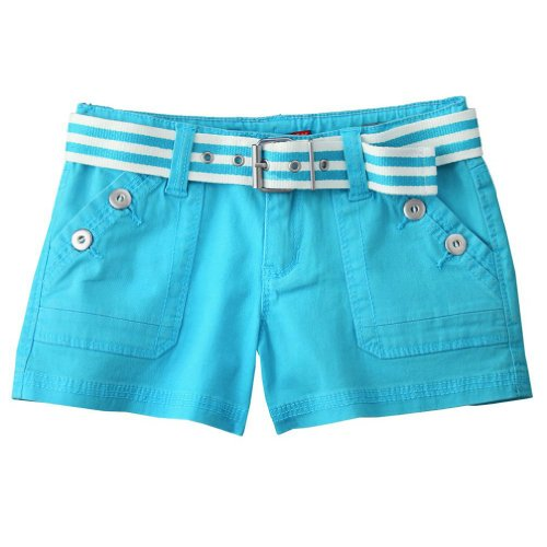 (Unionbays Girls Belted Shorts (8yrs, Blue))