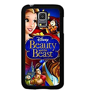 Beauty And The Beast Disney Funda Case Snap On Slim Anti Slip Plastic Back Cover For Samsung Galaxy S5 Mini