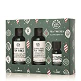 The Body Shop Tea Tree Gift Set, Simple 3-Step Routine With Tea Tree Face Wash, Toner, & Oil