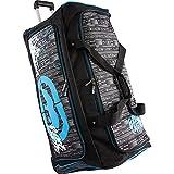 Ecko Unltd. Men's Tagger Large 32'' Bag Rolling Duffel, Black/Blue, One Size