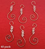 Diamond Swirled Beaded Photo Ornament Hooks 48 Christmas Decoration Hangers