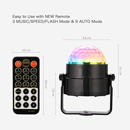 ... YiYiBa Party Lights,Disco Ball DJ Lights RGB Stage Lighting Strobe LED  11 Color Changing