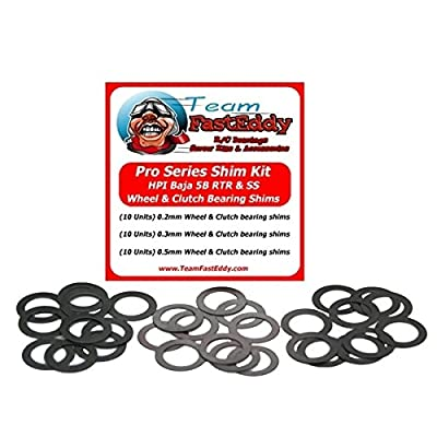 FastEddy Bearings Pro Series Shim Kit Wheel / Clutch HPI Baja: Toys & Games