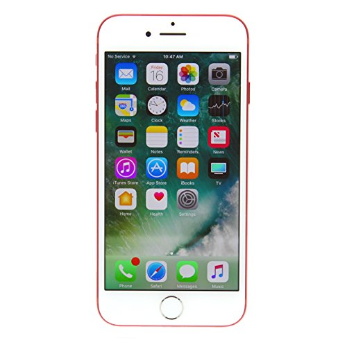 iPhone 7 128GB Unlocked GSM 4G LTE Phone w/ 12MP Camera - Red (Renewed)
