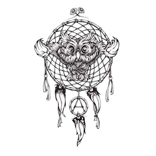 Oksale® Womens Men Temporary Tattoos Body Art Fake Dreamcatcher Tattoo Stickers Waterproof (C) ()