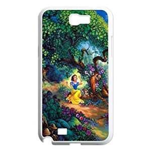 Samsung Galaxy N2 7100 Cell Phone Case White Disney Snow White Forest Tree Flowers Nature Princess T7W1JV