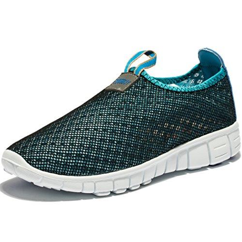 Men & Women Breathable Mesh Running Sport Tennis Outdoor Shoes,Beach Aqua,Athletic,Exercise,Slip...