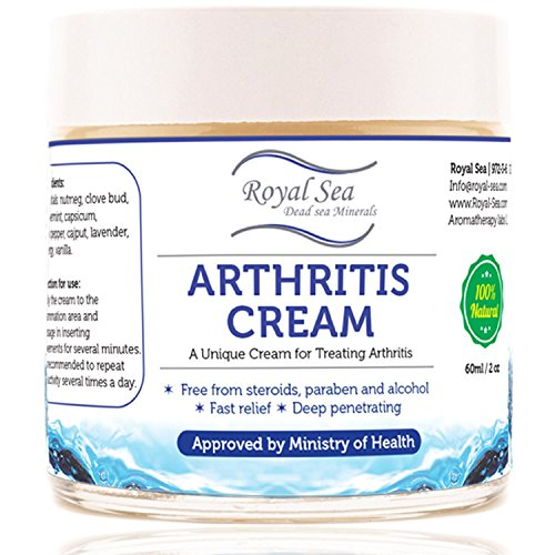 Best Natural Arthritis Joint Pain Relief Cream By Royal Dead Sea [2.02oz] Therapy for Feet, Hand, Neck, Back, Shoulder, Hand, Knee, Foot, Toes, Inflammation Treatment Relieve. Pure Essential - Pain Cream Away Arthritis