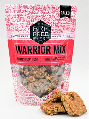 BeeFree Warrior Mix Granola | Gluten Free, Grain Free, Paleo, Hagen's Berry Bomb, 9 Ounce Bag ()