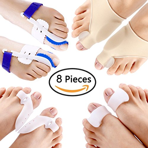 PAAZA Bunion Corrector & Bunion Relief Kit - Cure Pain in Big Toe Joint, Tailors Bunion, Hallux Valgus, Hammer Toe, Toe Separators Spacers Straighteners Splint Aid Surgery Treatment by PAAZA