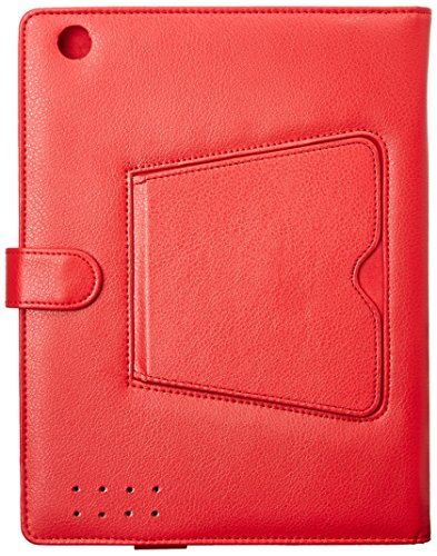 NATICO Ipad Case With Detachable Keyboard, Red (60-I180-RD)