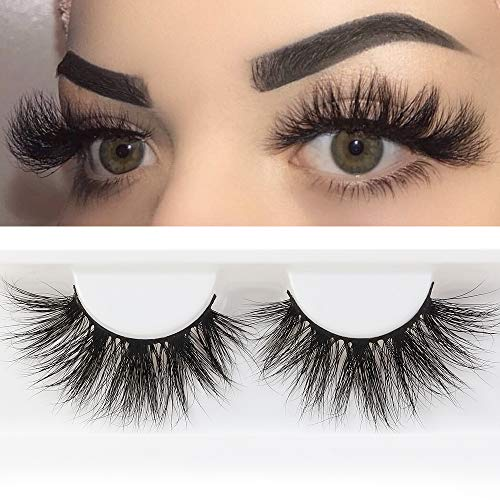 Big Lashes - MAGEFY 25mm 3D Mink Lashes Dramatic Volumn Eyelashes Thick Strip False Eyelashes