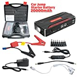 Automotive Battery Charger Jump Starter Best Deals - uxcell 600A Peak Current Portable Car Jump Starter with 20000mAh 4USB Power Bank Emergency Car Battery Booster Pack Vehicle Jump Starter Charger SOS Flashlight