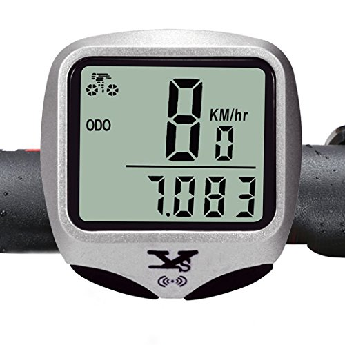 WFR® Outdoor Biking Wireless Bike Computer Smart Bicycle Odometer Cycling Speedometer ( White Backlight )