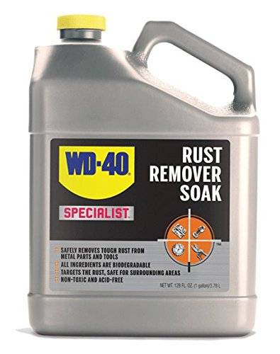 WD-40 Specialist Rust Remover Soak- Fast Acting Rust Dissolver. 1 Gallon. (Pack of 1)