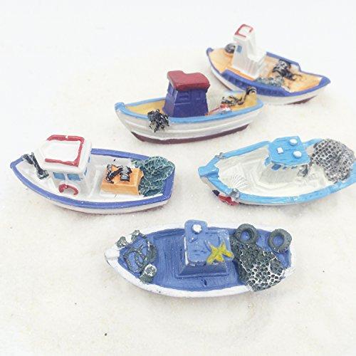 FUNSHOWCASE Lot 5 Retro Sea Fishing Boats Boat