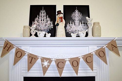 hot cocoa banner winter bridal shower decor photo prop winter hot drinks sign