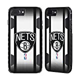 Official NBA Halftone Gradient Brooklyn Nets Black Evolution Case for Apple iPhone 7 Plus / iPhone 8 Plus
